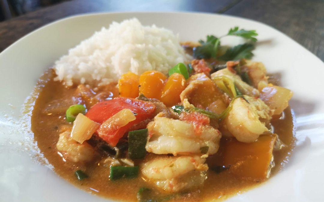 MONDAY – Prawn & Cod Moqueca (fish stew)
