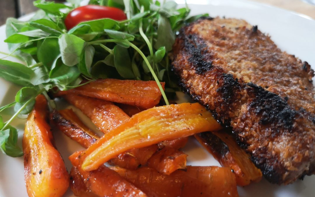 Five Spice Coconut Crusted Pork Chops