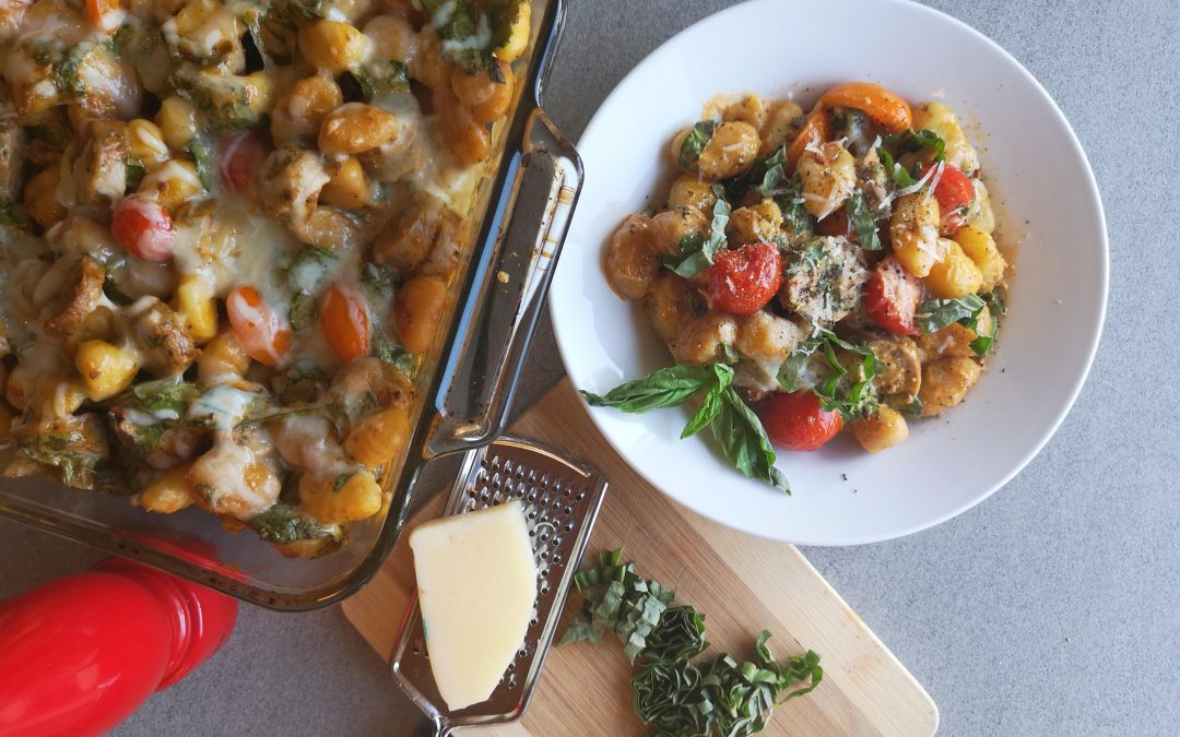 WEDNESDAY – Baked Gnocchi in Sundried Tomato Pesto Cream with Spinach and Sausage