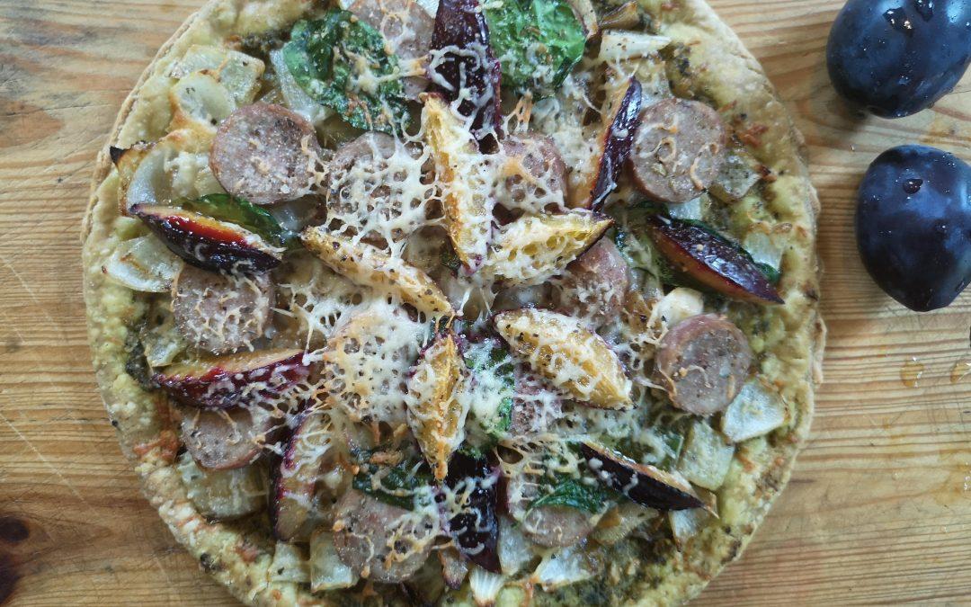 THURSDAY – Fennel Sausage, Pesto, and Plum Tarts