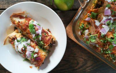 Black Bean & Yam Enchiladas